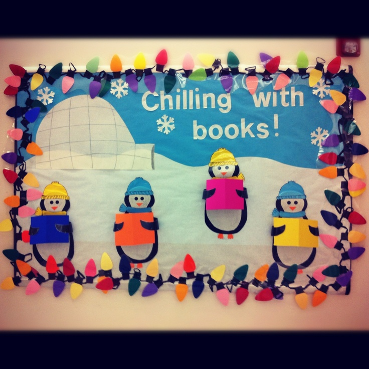 Chilling With Books! Very cute! Possibly use real book covers?