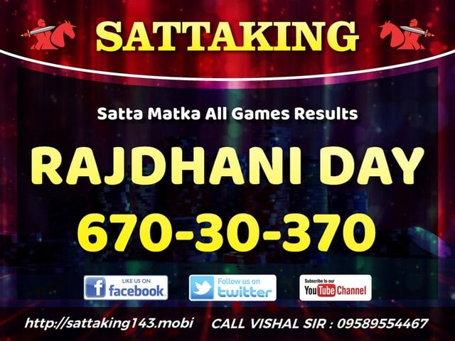 sattaking143.mobi World's best satta matka guessing site, provides fastest sattamatka result, Satta, kalyan matka charts & tips, 100% Fix panna chart. Be in touch for fastest matka result, Tips online on http://sattaking143.mobi/