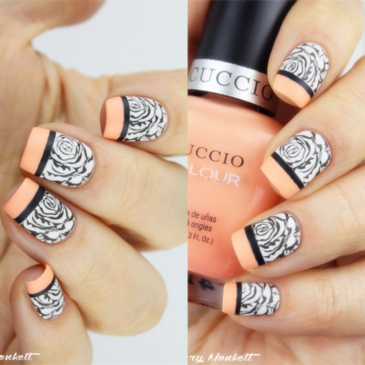 646 best stamping nailart 7 images on pinterest nailart art nailpolis museum of nail art fabulous french rose stamping nails by born pretty solutioingenieria Image collections