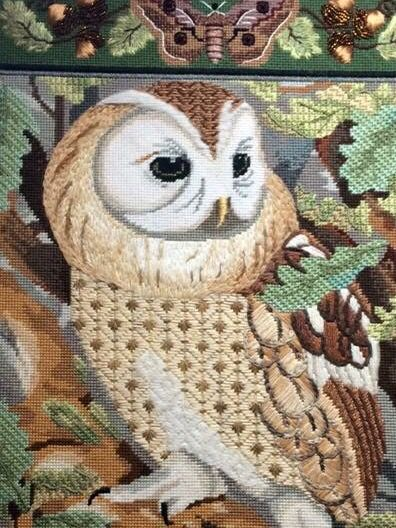 Beautiful needlepoint stitches for birds.