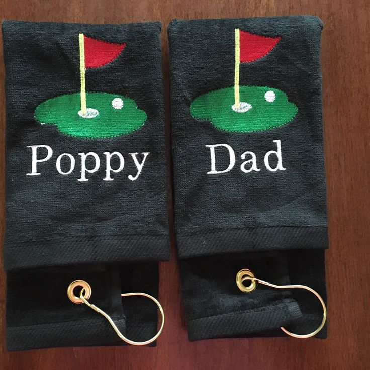 Personalized golf towels for Father's Day!! Fast turn around.