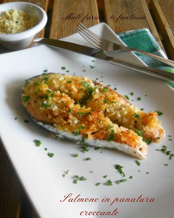 #Secondo di #salmone in crosta croccante