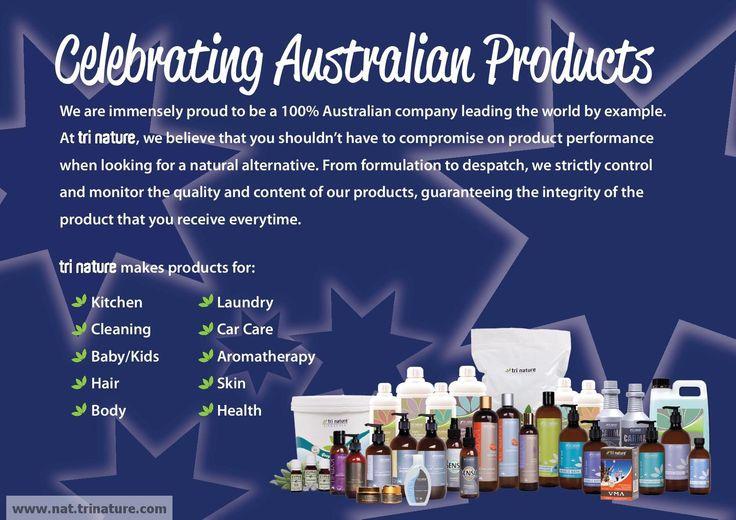 Aussie, Aussie, Aussie!!! #aussieowned #aussiemade #lovetrinature www.nat.trinature.com