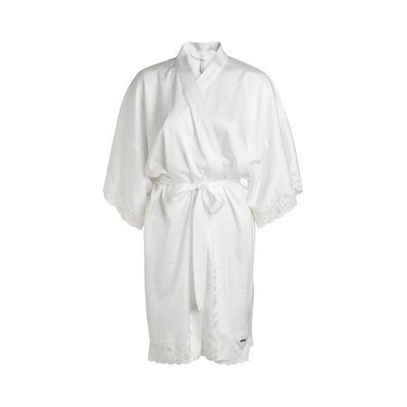 """""""Fifty Shades of Grey"""" Lyxig kimono i satin med knytband i midjan och 3/4 dels ärm. Vackra detaljer i specialdesignad spets i ärmslut samt nertill. Dekorerad med nyckeln som är sign..."""