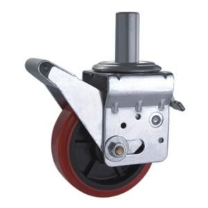 "Adjustable scaffold caster wheels,Scaffolding Caster Wheel,Scaffolding wheels  Material: PU,Polyamide  Size available:  6"" x 50mm ; 8"" x 50mm   Loading Capacity:200kg-350kg  Solid Stem Size: 34.5mm x 70mm Long  Size of mounting tube: Customize  Widely used as scaffold rack casters wheels,Rack Caster wheel,Scaffolding tower casters,We can make the stem size according to client's size"