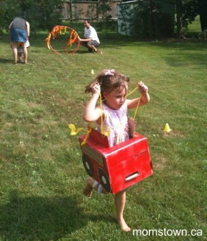 Firetruck Birthday Party ideas - crafts, games & decor