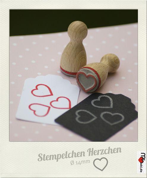 Ministempel - ø14mm-Stempelchen Herz II. - ein Designerstück von mymaki bei DaWanda