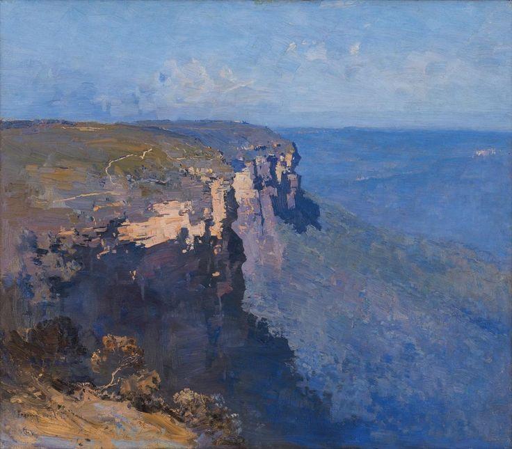 thunderstruck9: Penleigh Boyd (Australian, 1890-1923), Blue Mountains, 1922. Oil on canvas, 70 x 80.5 cm.