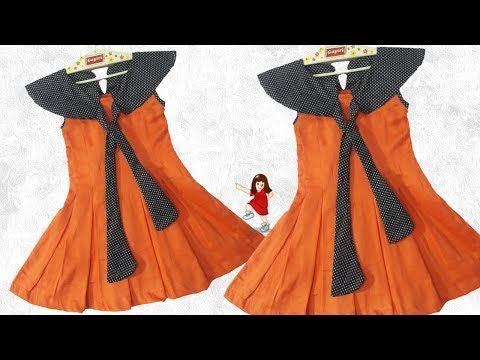 68bb03208 Diy New design frock for Baby girl    by simple cutting - YouTube ...