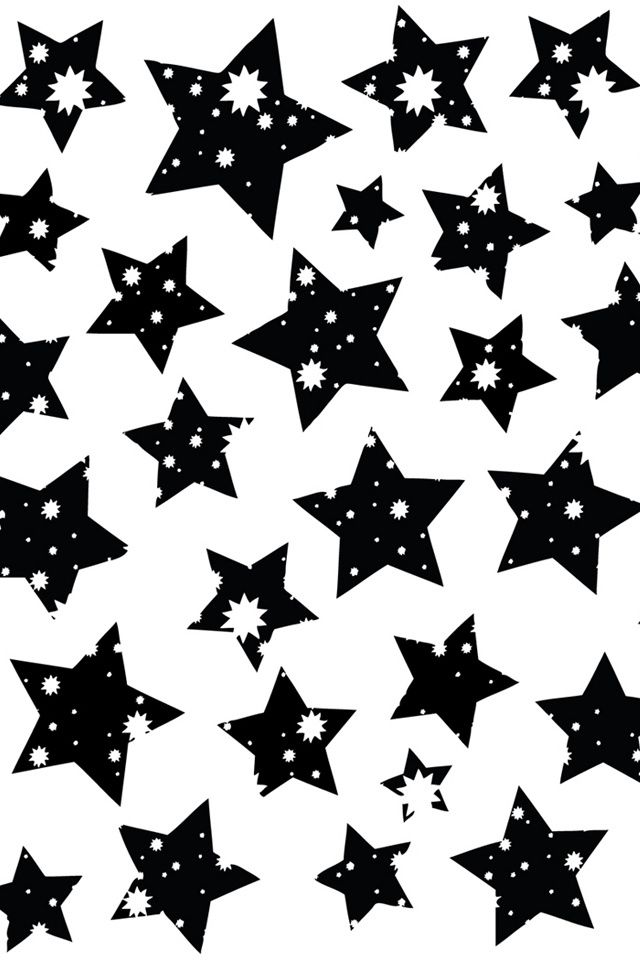 white background black stars