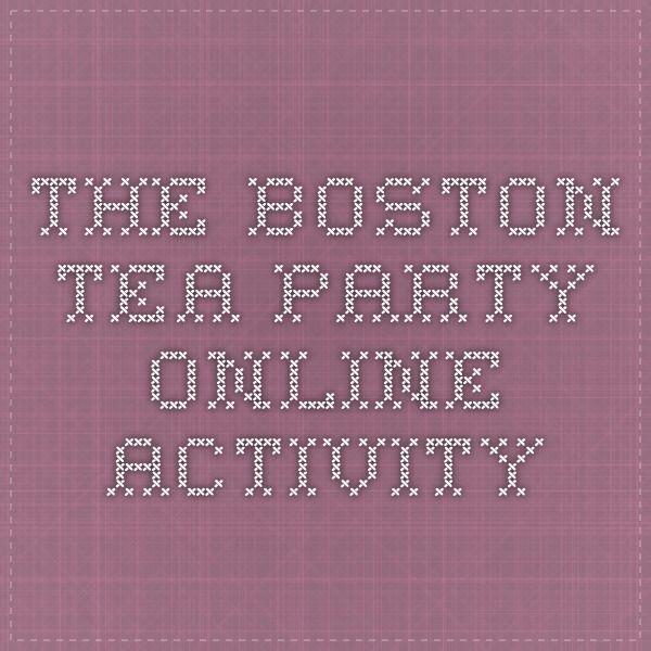 The Boston Tea Party - online activity