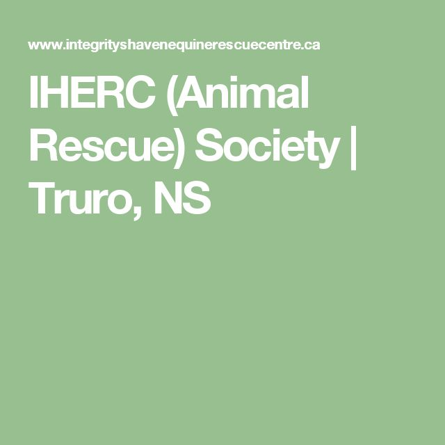 IHERC (Animal Rescue) Society | Truro, NS