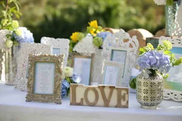 Mallorca Decor seating plan wedding