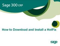 How to Download and Install a Sage 300 ERP Hotfix