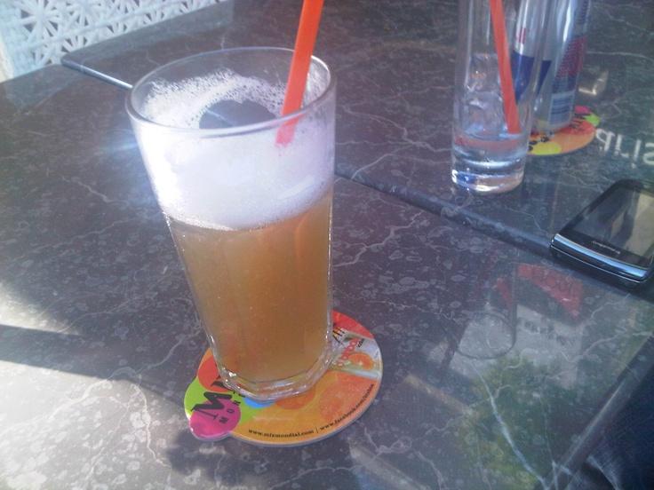 White Eleven! Special coctail with 11 different types of white alcohol.  Includes:  1 cl. Absolut votka  1 cl. Absolut Kurant  1 cl. Absolut Mandarin  1 cl. tekila  1 cl. Gordon cin  1 cl. Bacardi  1 cl. Martini Dry  1 cl. melon liqueur  1 cl. Martini Bianco  1 cl. Archers  1 cl. Malibu