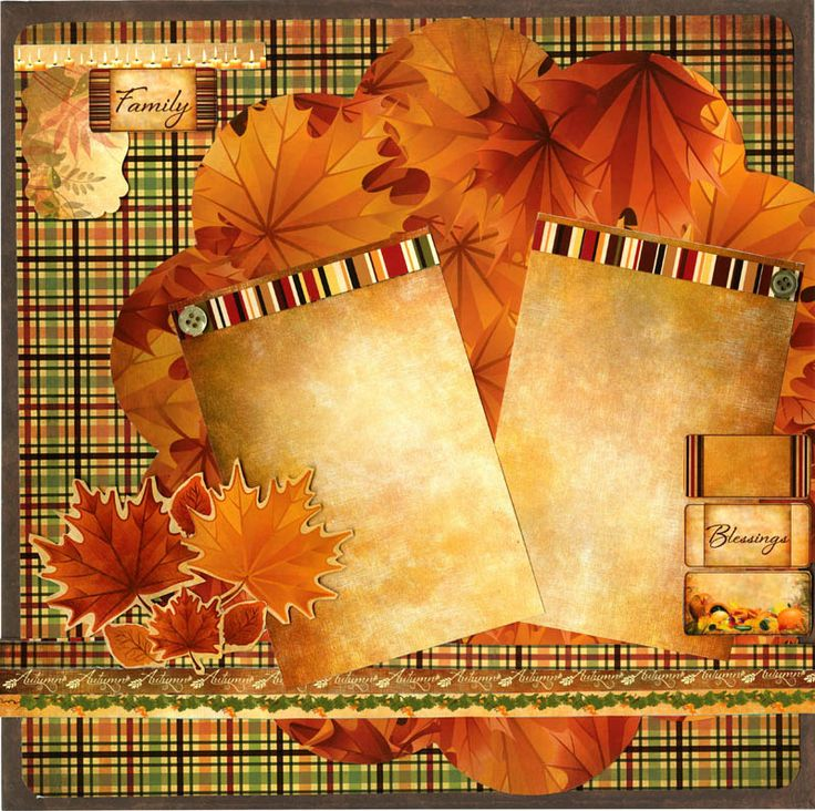 fall scrapbook layouts | Reminisce - Harvest Collection - 12 x 12 Double Sided Paper - Harvest ...
