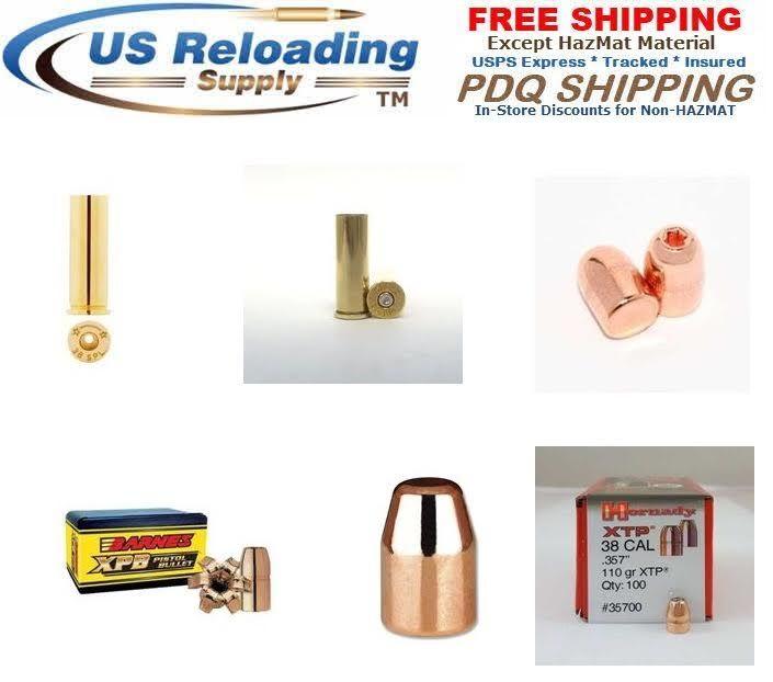 45 ACP Reloading brass and bullets for sale. Brass and bullets in bulk for sale with Priority Free Shipping.  http://www.usreloadingsupply.com/45-acp-reloading-supplies