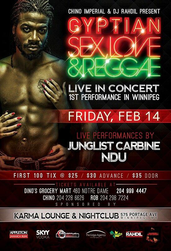 International Star #Gyptian LIVE @ Karma Lounge & NightClub (575 Portage Ave) on Valentine's Day