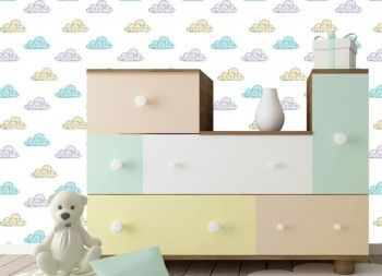 Wallpaper Print -Cloudy Days- by Plattform Studio Pattern design