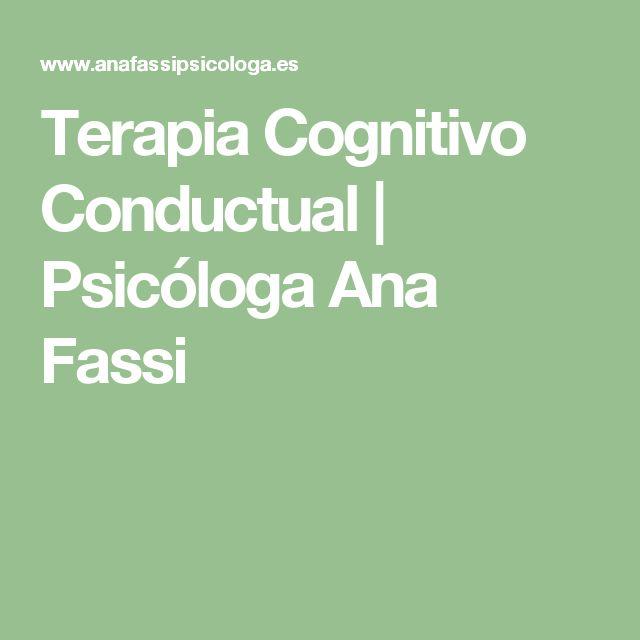 Terapia Cognitivo Conductual | Psicóloga Ana Fassi
