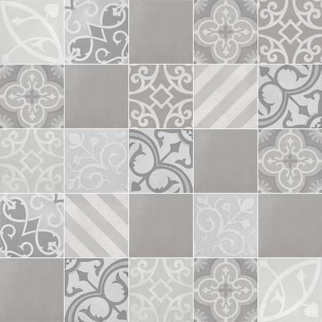 C716-18 Melange #18 Mist / Ash 1000mm x 1000mm (Set of 25 pieces of 200mm x 200mm tiles)