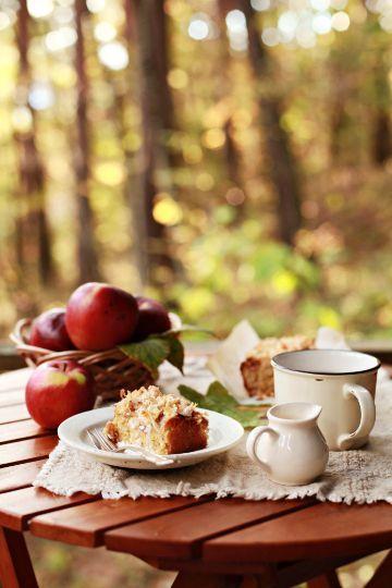 Tea break in the woods…#apples #harvest #recipes #tablescape