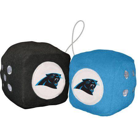 NFL Carolina Panthers Football Team Fuzzy Dice, Multicolor