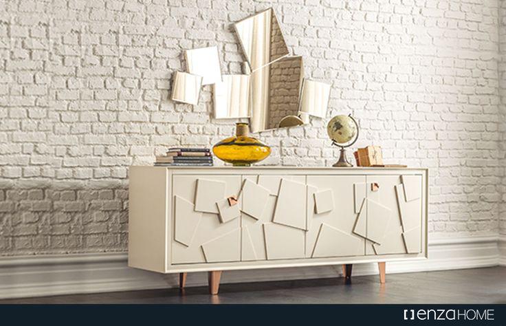 Evin hemen hemen her odasında birer detay olarak kullanabileceğiniz geometrik desenlerin güçlü etkisiyle çarpıcı ve modern bir dekorasyon tarzı oluşturabilirsiniz.