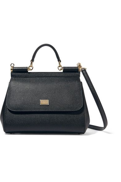 Black textured-leather (Calf) Snap-fastening front flap Comes with dust bag  Weighs approximately Made in Italy