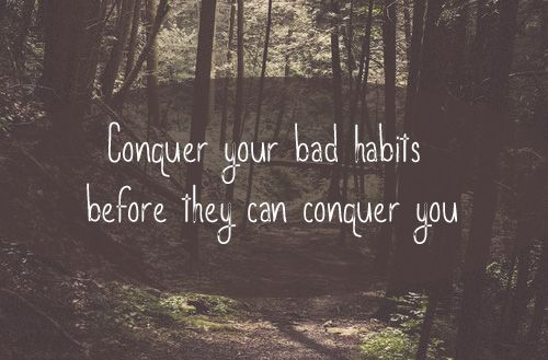 If God's going to change you, then you can't be in control of it. Why should you hang on to unhelpful habits?   Every time you slip into your habitual ways or thought patterns, hand them over to God. #bad #habits #conquer #God #Jesus #strength