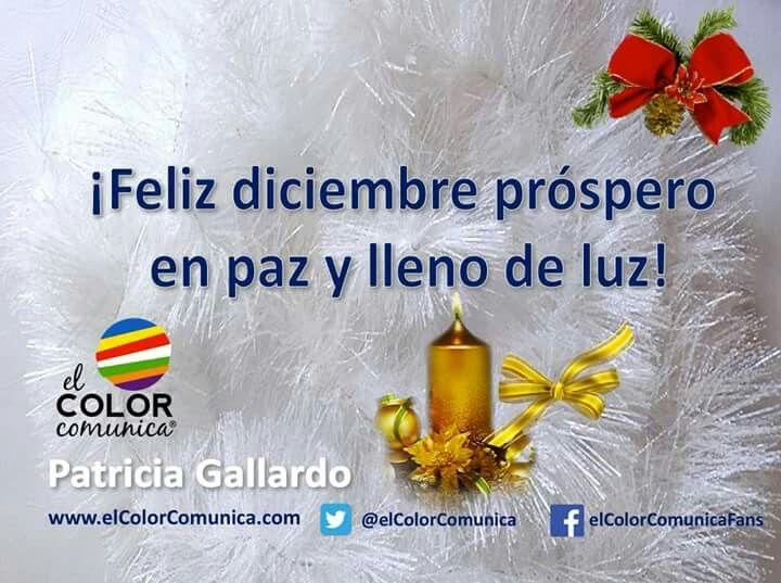 ¡Feliz #diciembre próspero en paz y lleno de luz! Patricia Gallardo- EL COLOR COMUNICA Diciembre es un mes muy especial con el solsticio de verano para el hemisferio sur y de invierno para el hemisferio norte. Finaliza un tiempo de un año calendario gregoriano anual y celebramos la entrada del 2018 para prosperar en el nuevo año que ha de llegar. Elevo mi plegaria al cielo para invocar la luz de la Navidad y, en Hannukah el Festival de las luces.  Cada 21 de diciembre desciende un ángel…
