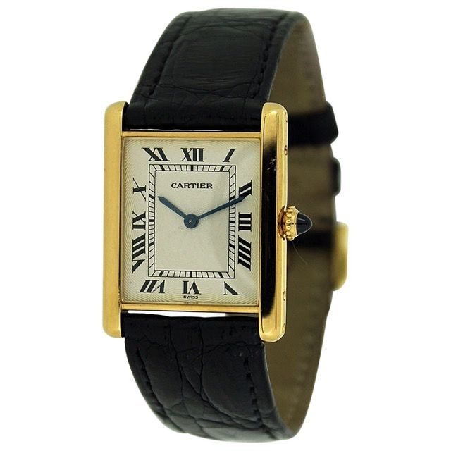 CARTIER Tank Louis Cartier yellow gold watch