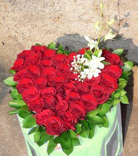 bunga mawar valentine bentuk hati. Heat Shaped Valentine's Flower