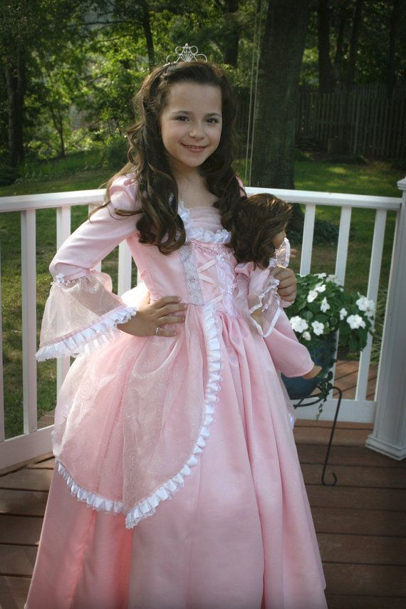 Princess Gown with Matching American Girl 18 by richelleleanne, $185.00