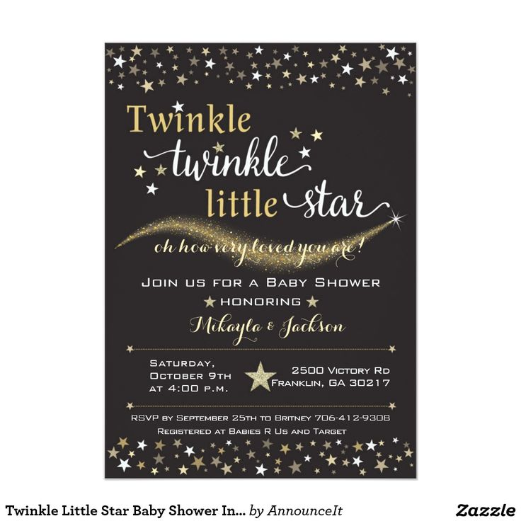 224 best zazzle images on pinterest class of 2016 graduation twinkle little star baby shower invitation stopboris Image collections