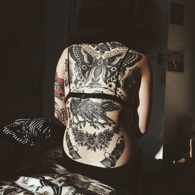 butterfly #back #tattoos