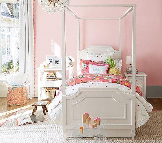 Ava Regency Canopy Bed Girl Room Pink Bedroom Design