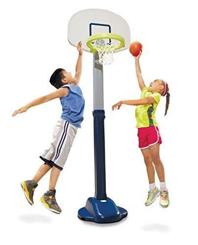 Little Tikes Adjust and Jam Pro Basketball Set Blue