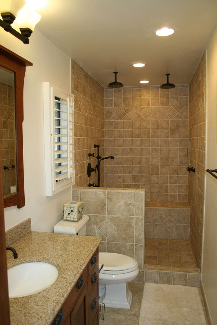 159 best bathroom images on pinterest bathroom for Tiny bathroom shower ideas