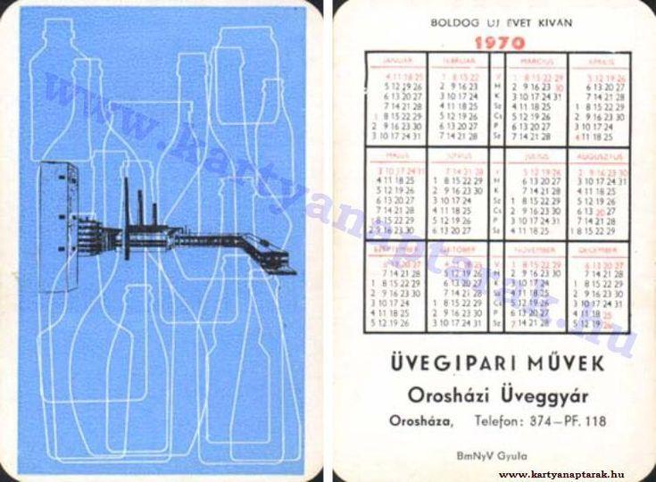 1970 - 1970_0451 - Régi magyar kártyanaptárak