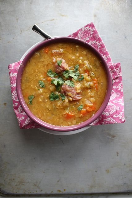 Red Lentil Soup with Ham by Heather Christo, via Flickr