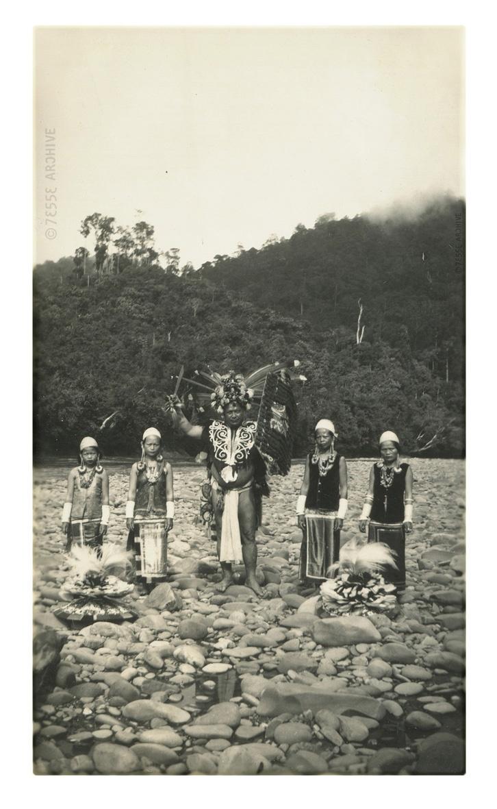 Indonesian Dayaks, around 1920's