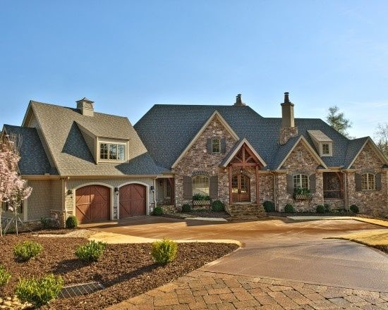Grey stone and stucco exterior houses google search French country stone