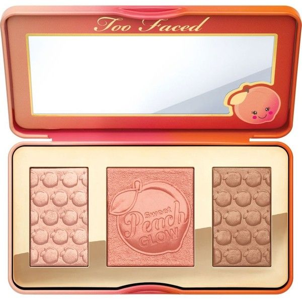 Too Faced Sweet Peach Glow palette found on Polyvore featuring beauty products, makeup, cheek makeup, cheek bronzer, beauty and too faced cosmetics