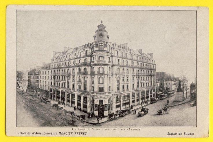 Cpa Rare Paris 100 Rue Du Faubourg St Antoine Magasin Meubles Mercier Freres Ebay Paris St Antoine Vieux Paris