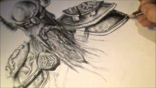 Elder Scrolls online speed drawing (skyrim music) - (720p HD) - YouTube