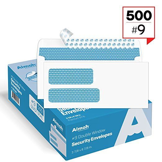 500 9 Double Window Self Seal Security Envelopes For Invoices Statements Documents Security Tinted Si Security Envelopes Window Security Double Window