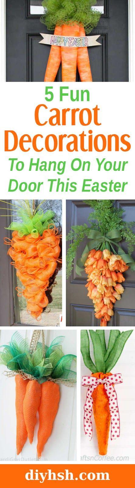 DIY Home Sweet Home: 5 DIY Carrot Easter Wreaths