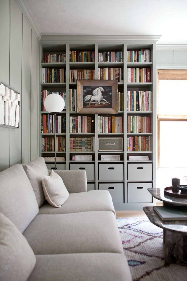 Built In Ikea Billy Bookcase Hack Avec Images Bibliotheque