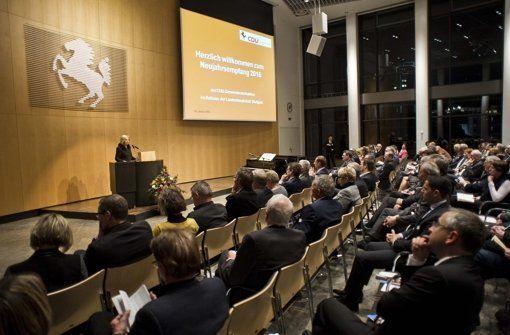 Als Vertreterin der Bundes-CDU war die Bildungsministerin Johanna Wanka zu Gast.  Foto: Lichtgut/Max Kovalenko http://www.stuttgarter-zeitung.de/inhalt.neujahrsempfang-cdu-stuttgart-cdu-mit-geheimen-visionen.37650cff-8383-4b20-a293-bead6ed81b4c.html
